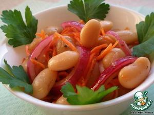 Салат из фасоли в азиатском стиле