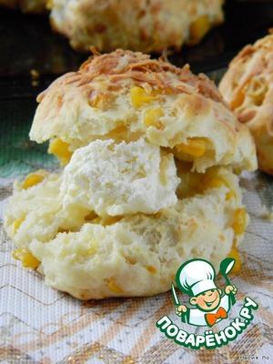 Рецепт Сырные булочки со сладкой кукурузой