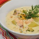 Сырный рыбный суп