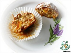 Рецепт Постные яблочные маффины с курагой
