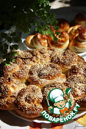 Рецепт Английский хлеб с сыром и ветчиной