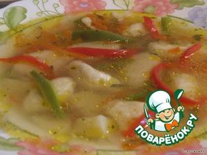 Soup with garlic dumplings