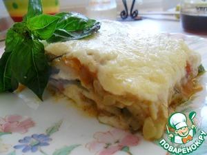 Рецепт Лазанья с кабачками и базиликом
