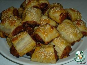 Рецепт Закусочные пирожки с курино-луковой начинкой