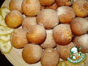 Рецепт Пончики «Фруктовое нашествие»
