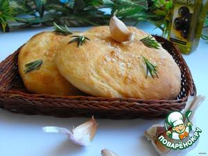 Рецепт Фокачча с чесночным маслом