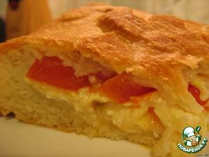 Рецепт Закрытый пирог с сыром и помидорами