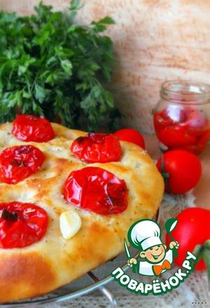 Рецепт Картофельная фокачча с печеными помидорами