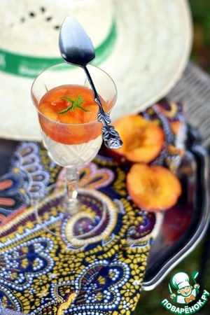 Рецепт Панна-котта с персиками