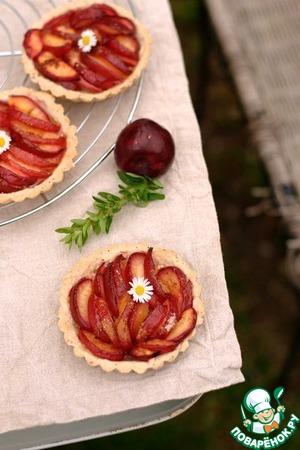 Рецепт Сливовый тарт с тестом из белого вина и мака