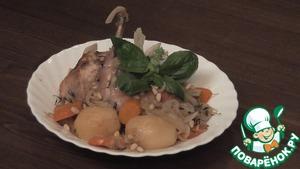 Рецепт Кролик, тушенный в вине с овощами