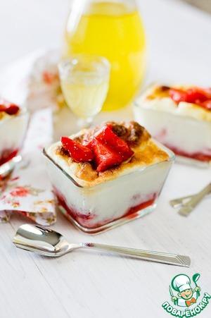 Рецепт Клубничное суфле с лимонным ликером