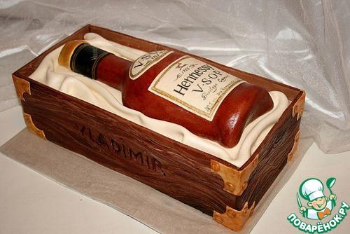 Торт в виде бутылки как сделать