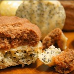 Печенье песочное с кремом из халвы