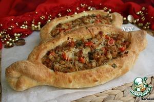 Турецкая пицца Пидэ вкусный рецепт с фото пошагово как готовить