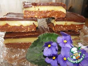 Рецепт Пирожные со сливочным тоффи и шоколадом