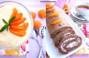 """Рецепт Крем """"Mousseline"""" и шоколадный рулет"""