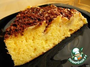 Рецепт Пирог-перевертыш с бананами и сливочно-карамельным соусом