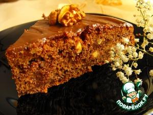 Рецепт Шоколадно-ореховый торт с мягким кремом