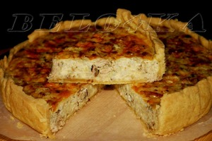 Рыбно-рисовый пирог