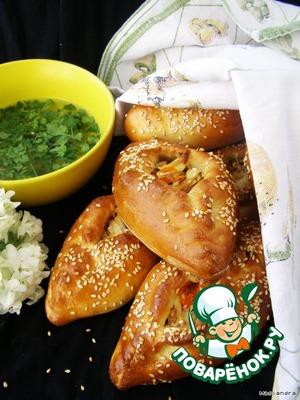Рецепт Старорусские расстегаи с куриным мясом