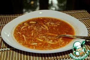Рецепт Суп томатный с морепродуктами