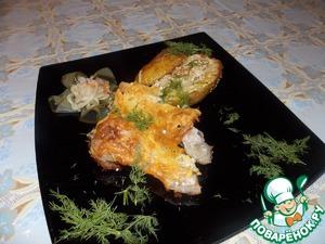 Рецепт Курица с фаршированным картофелем