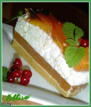 Рецепт Десертный торт с йогуртом и персиками