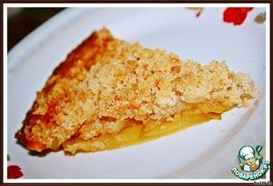 Рецепт Хрустящий яблочный пирог с апельсиновым соком