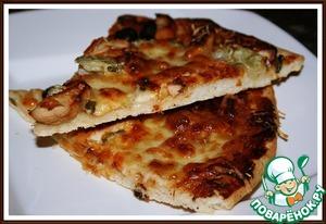 Рецепт Оригинальная пицца-барбекю с курицей
