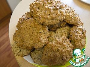 Рецепт Печенье овсяное с изюмом и миндальным орехом