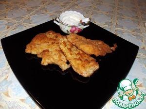 Рецепт: Жареное куриное филе в панировке