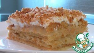 Рецепт Слоеное пирожное с заварным кремом