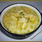 Суп сырный с клецками