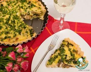 Рецепт Французский киш с курицей и грибами