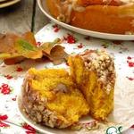 Тыквенные булочки с орехами и коричневым сахаром