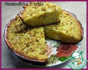 Рецепт Пирог «Коньячный» с яблоками и апельсинами