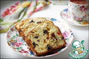 Рецепт Творожный кекс с шоколадом и сухофруктами
