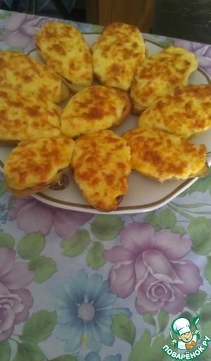Рецепт Картофель, запеченный под сырно-чесночной корочкой