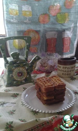 Рецепт Вафли со сливочным кремом