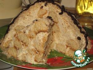 Рецепт Торт «Кокосовая горка – «А-ля Рафаэлло»