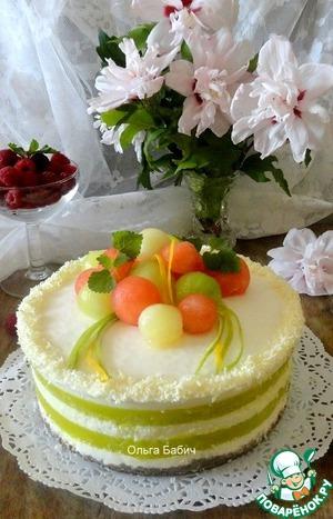 Рецепт Йогуртовый торт с дыней