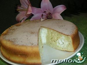 Рецепт Пирог из топленого молока с творогом