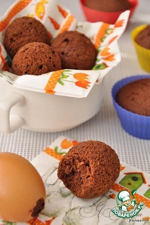 Рецепт Шоколадные кексы «Пасхальные яйца», испеченные в яичной скорлупе