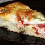 Мясной пирог с моцареллой
