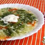 Лeгкий суп с яйцом