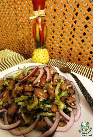 Рецепт Салат из фасоли с грецкими орехами
