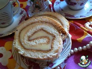 Рецепт Бисквитный рулет с масляным кремом