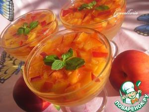 Рецепт Нектарины в лимонном желе