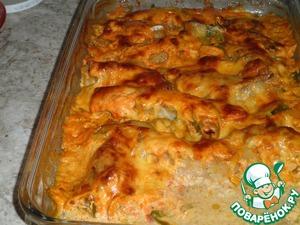 Рецепт Рыбка запеченная с овощами в пикантном соусе